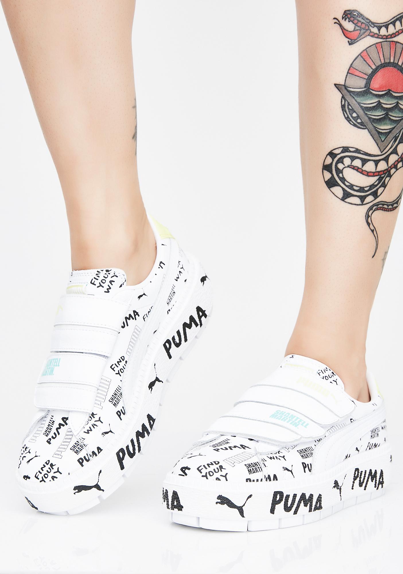 ... PUMA X Shantell Martin Platform Trace Strap Sneakers ... 22c34ab33