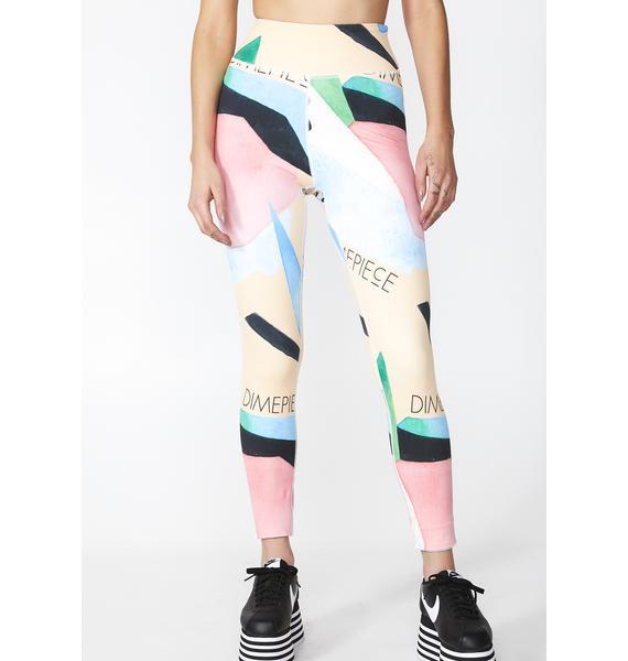 Dimepiece Water Color Sport Leggings