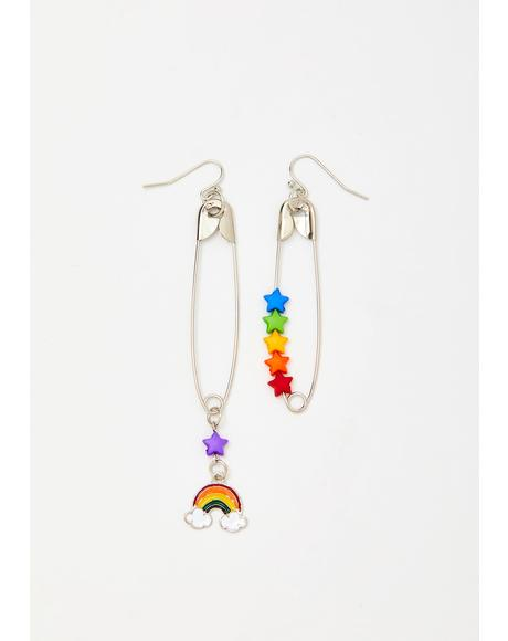 Punk Cutie Safety Pin Earrings