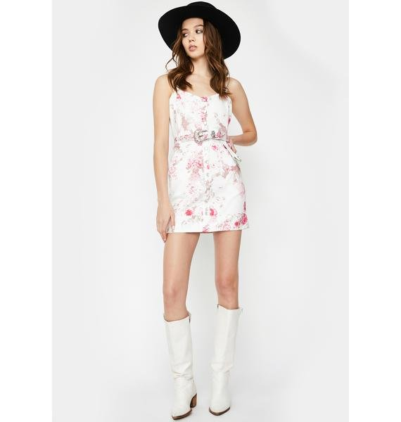 For Love & Lemons Weston Denim Mini Dress