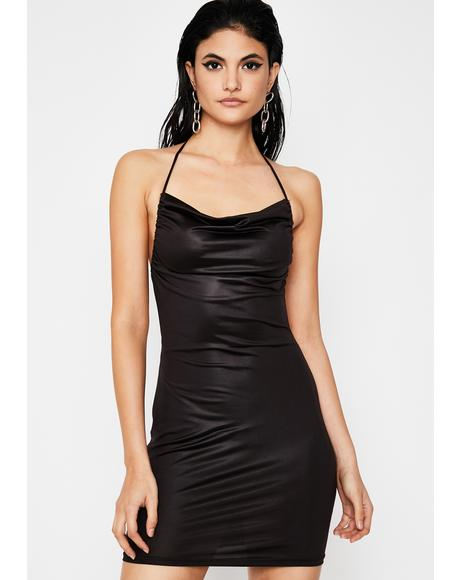 Dark Too Hott Couture Halter Dress