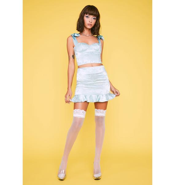 HOROSCOPEZ Level Headed Heiress Satin Skirt