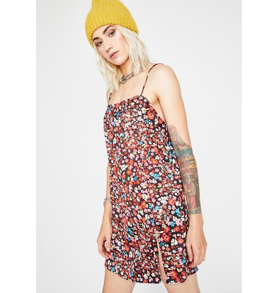 Strike A Posy Mini Dress