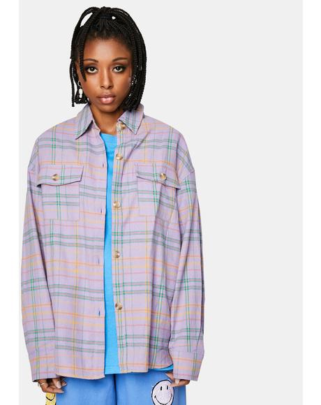Lavender Flannel Jacket