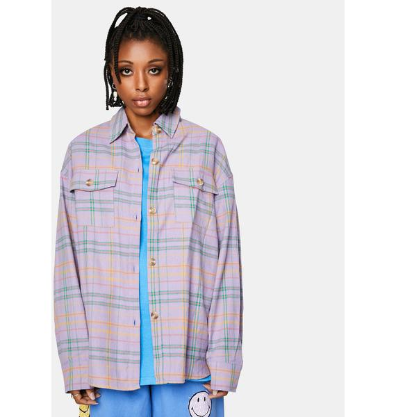 Bailey Rose Lavender Flannel Jacket