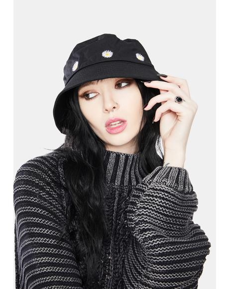 Daisy Doll Embroidered Bucket Hat