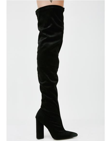 Onyx Burnin' Romance Over The Knee Boots