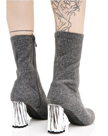 Nova Crushed Metal Boots