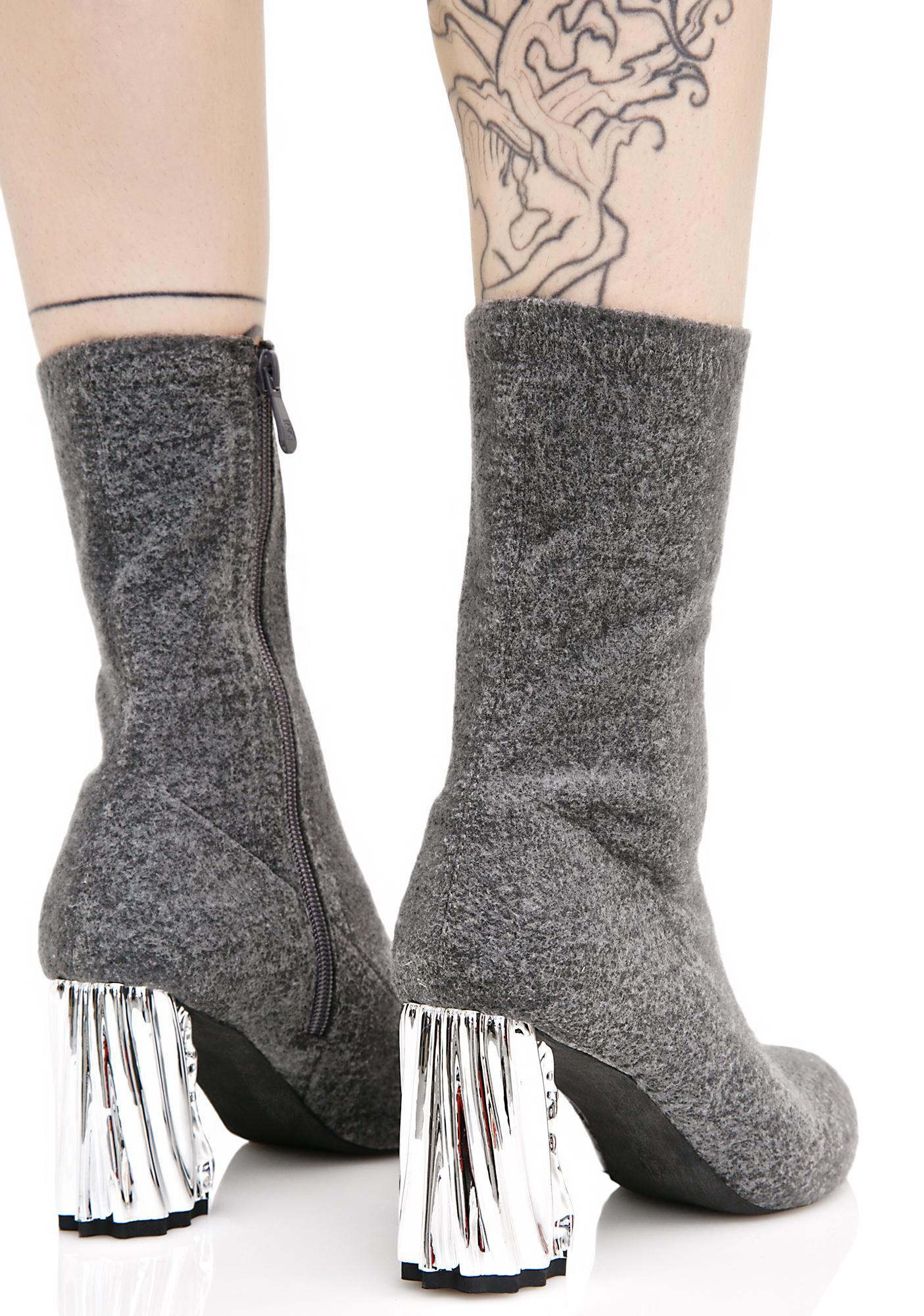 Public Desire Nova Crushed Metal Boots