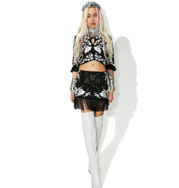 For Love & Lemons Mallorca Mini Skirt