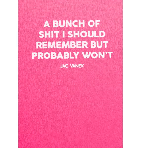 Jac Vanek Bunch Of Shit Cover Notebook