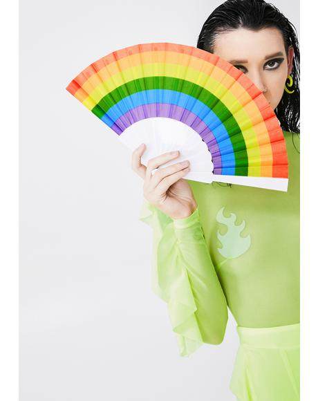 Glorious Gal Rainbow Fan