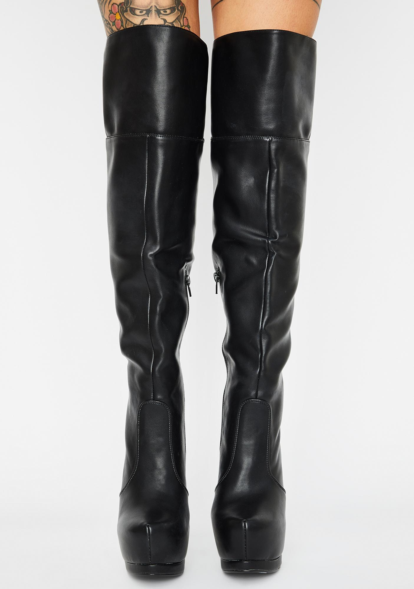 Chinese Laundry Free Form Smooth Platform Stiletto Boots