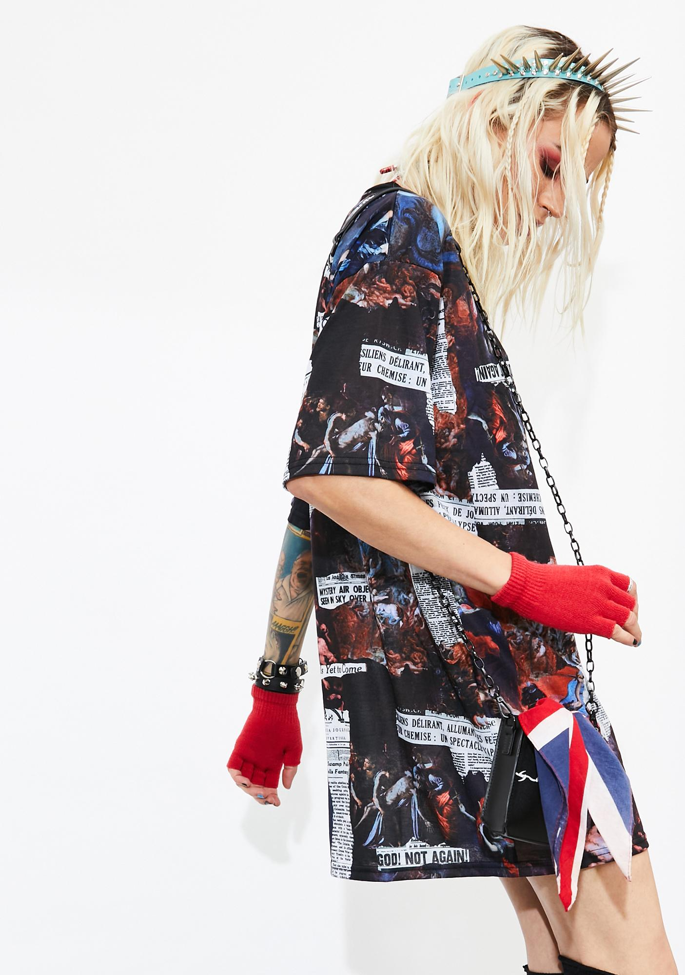Current Mood Tales Of Chaos T-Shirt Dress