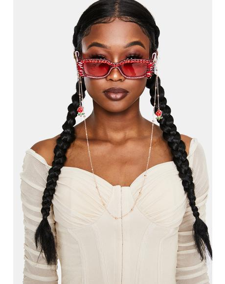 Enchantress Rose Sunglasses Chain
