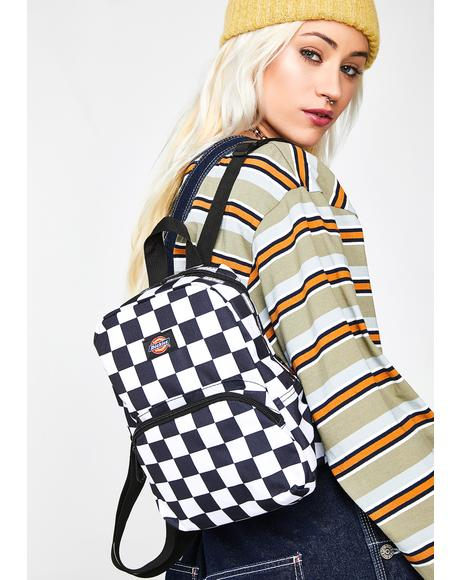 Checkerboard Mini Backpack