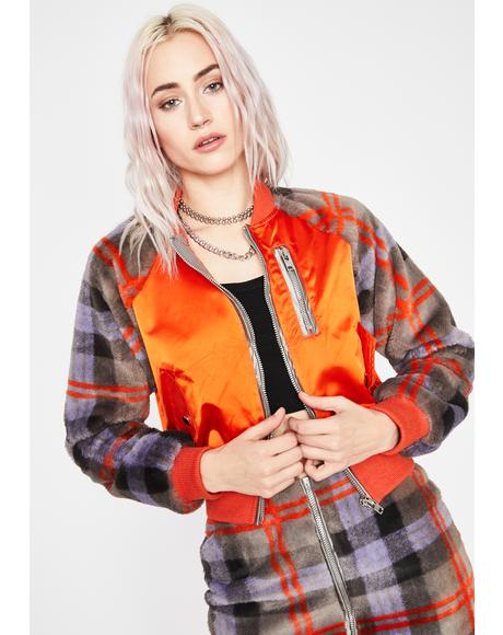 What Ur Missing Plaid Bomber