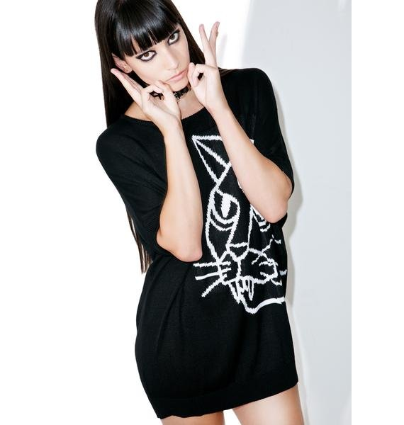 Killstar Stray Batwing Knit Top