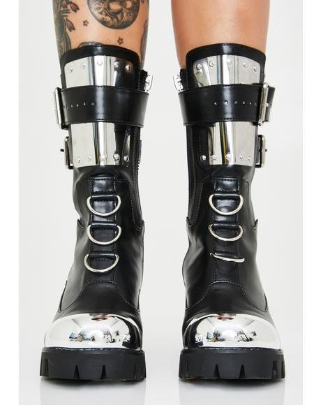 Immortal Chromance Moto Boots