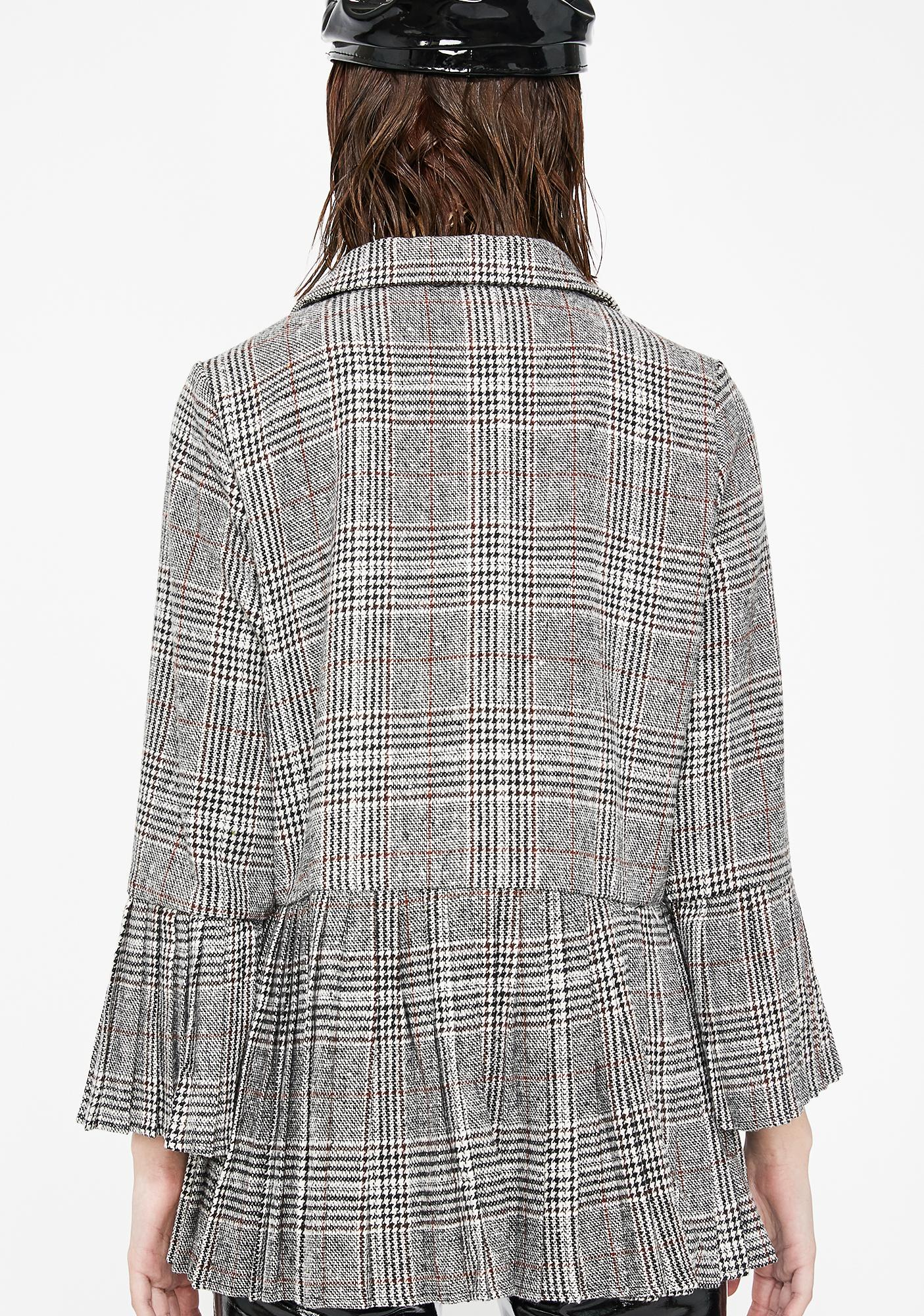 Higher Reading Plaid Blazer