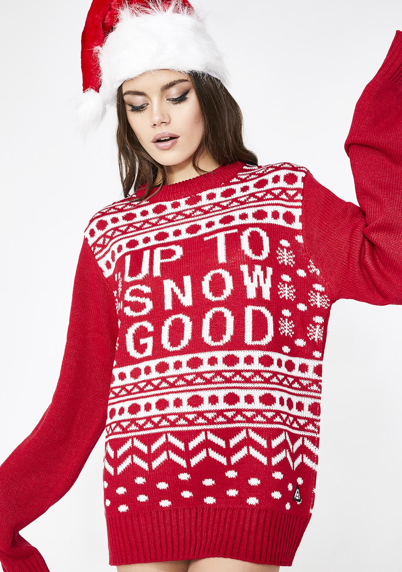 Snow Good Knit Sweater by American Stitch