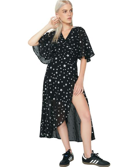 So Stellar Wrap Dress
