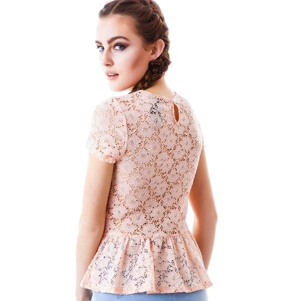 Flora Lace Peplum Top