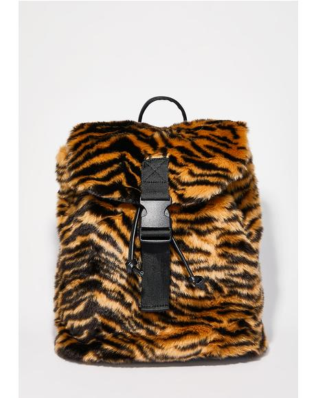 Tiger Fur Backpack
