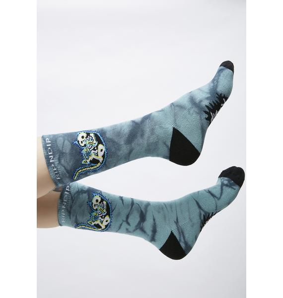 RIPNDIP Deep Sea Falling Electrocuted Socks
