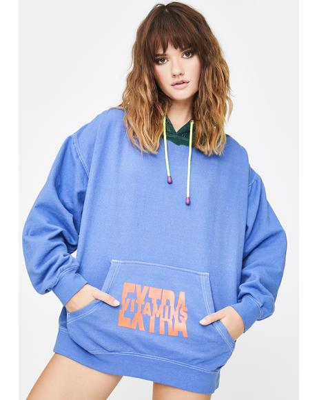 Blue Sun Graphic Pullover Hoodie