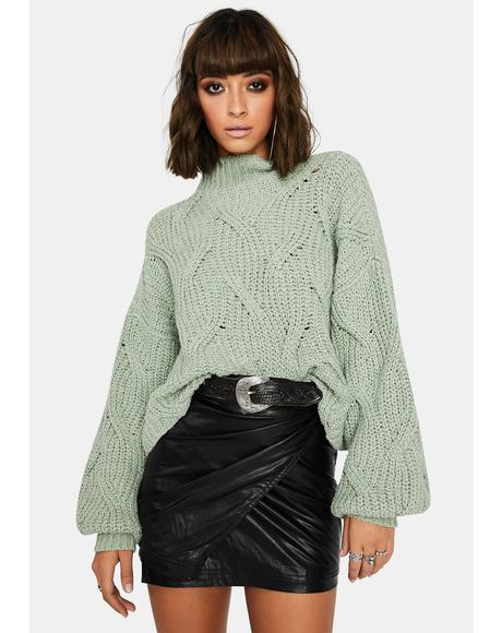 Mint Seasons Change Knit Sweater
