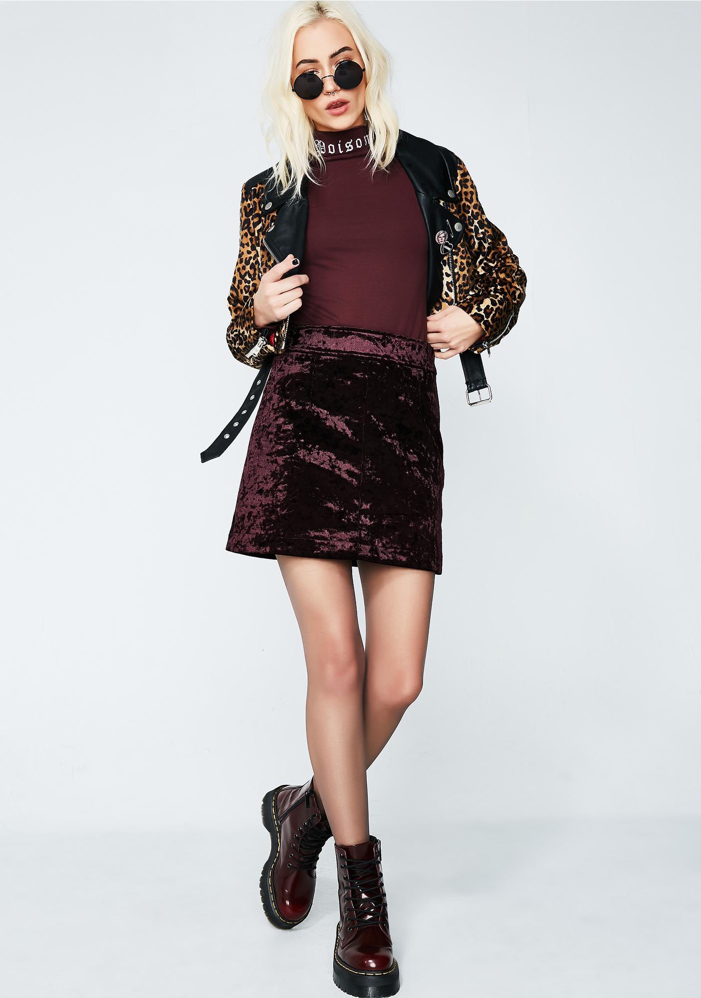 1237639714 ... Amethyst No Lies Velvet Mini Skirt ...