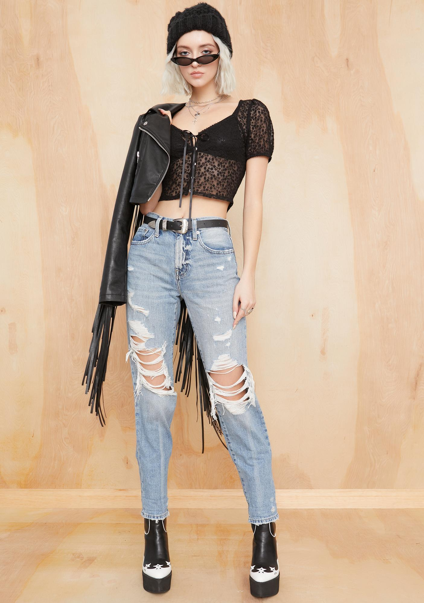 Current Mood Miss Behaved Mesh Top