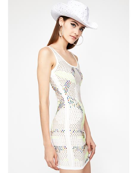 Frosted Clout Complex Bodycon Dress
