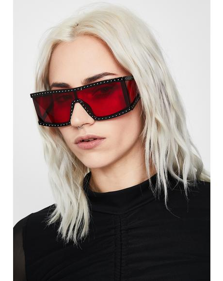 Scarlet Starlet Shield Sunglasses