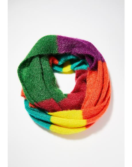 Color My Heart Colorblock Scarf