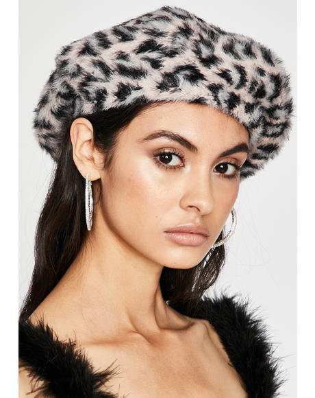 Miss Top Cat Faux Fur Beret