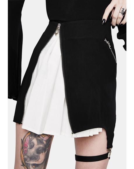 Punk Inside Out Irregular Short Skirt