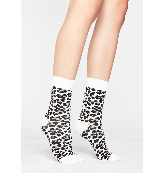 Loud Meow Leopard Socks