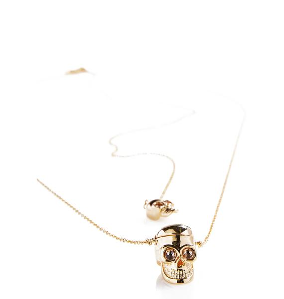 Love And Madness Skull Necklace