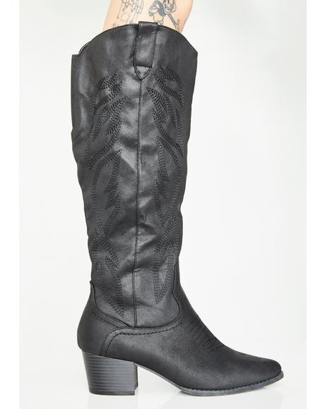 Lone Ranger Knee High Boots
