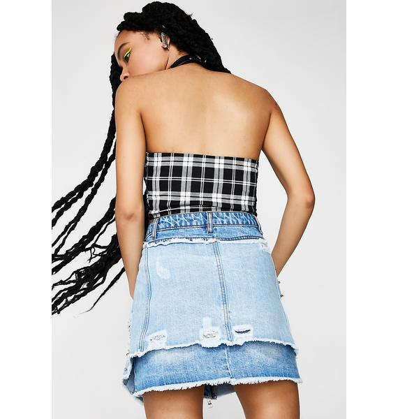 Retox Denim Skirt