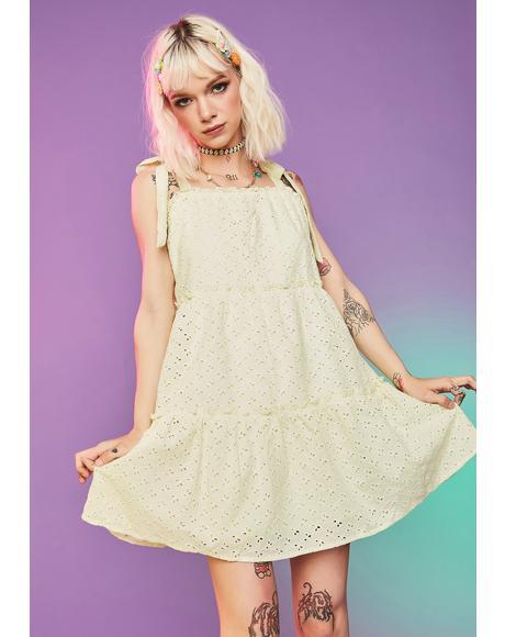 Dude Gimme Some Sugar Eyelet Babydoll Dress