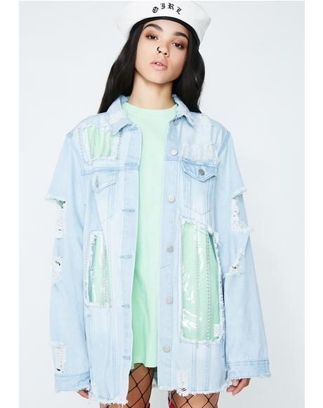 See Thru You Denim Jacket