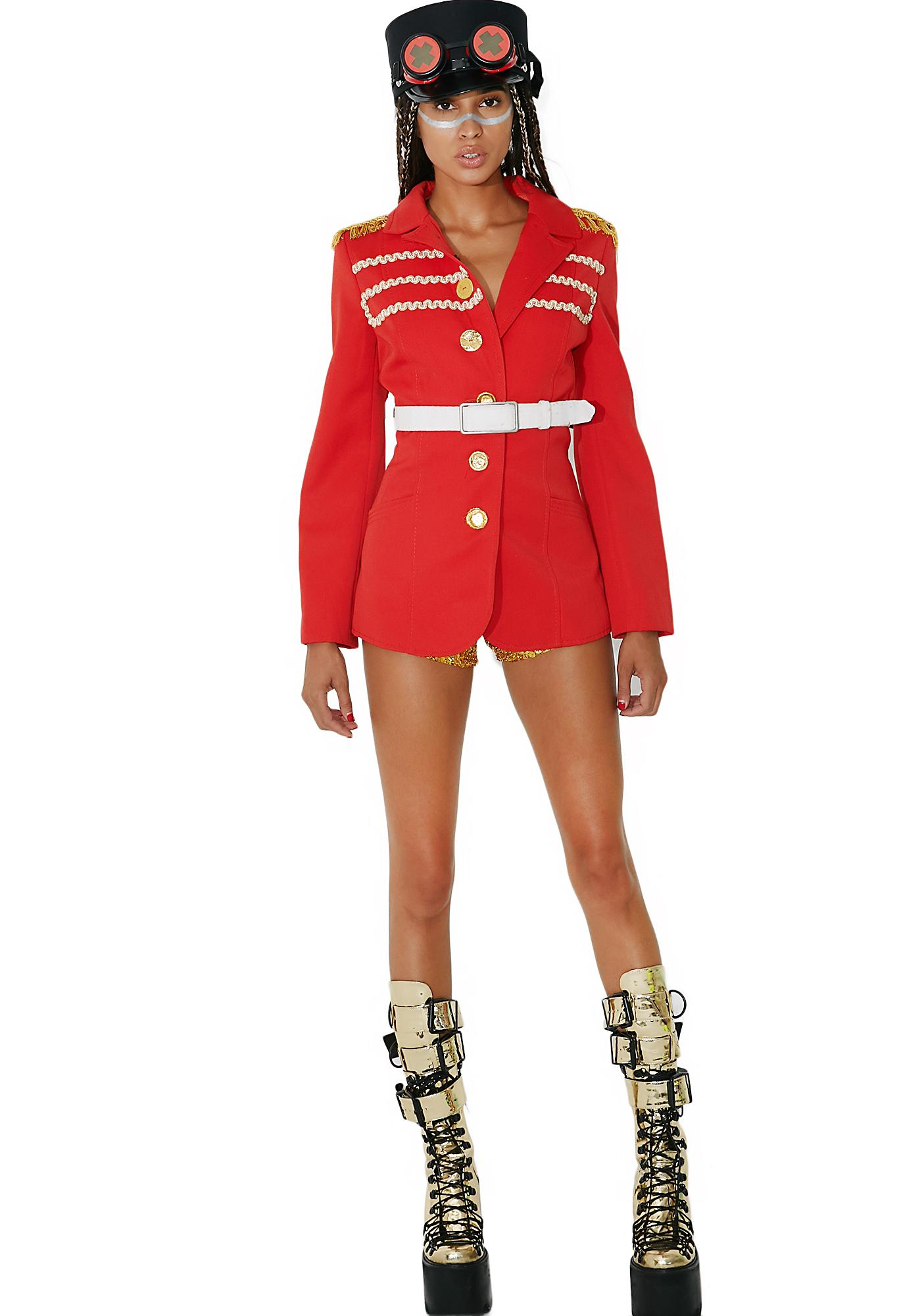 Vintage Red Military Jacket | Dolls Kill