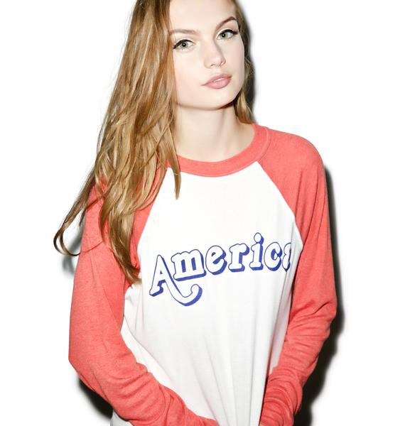 Wildfox Couture Vintage America Kim's Sweater