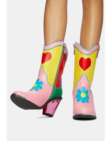 Free Luv Nation Colorblock Cowboy Boots