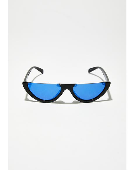 Lunar Landing Cat-Eye Sunglasses