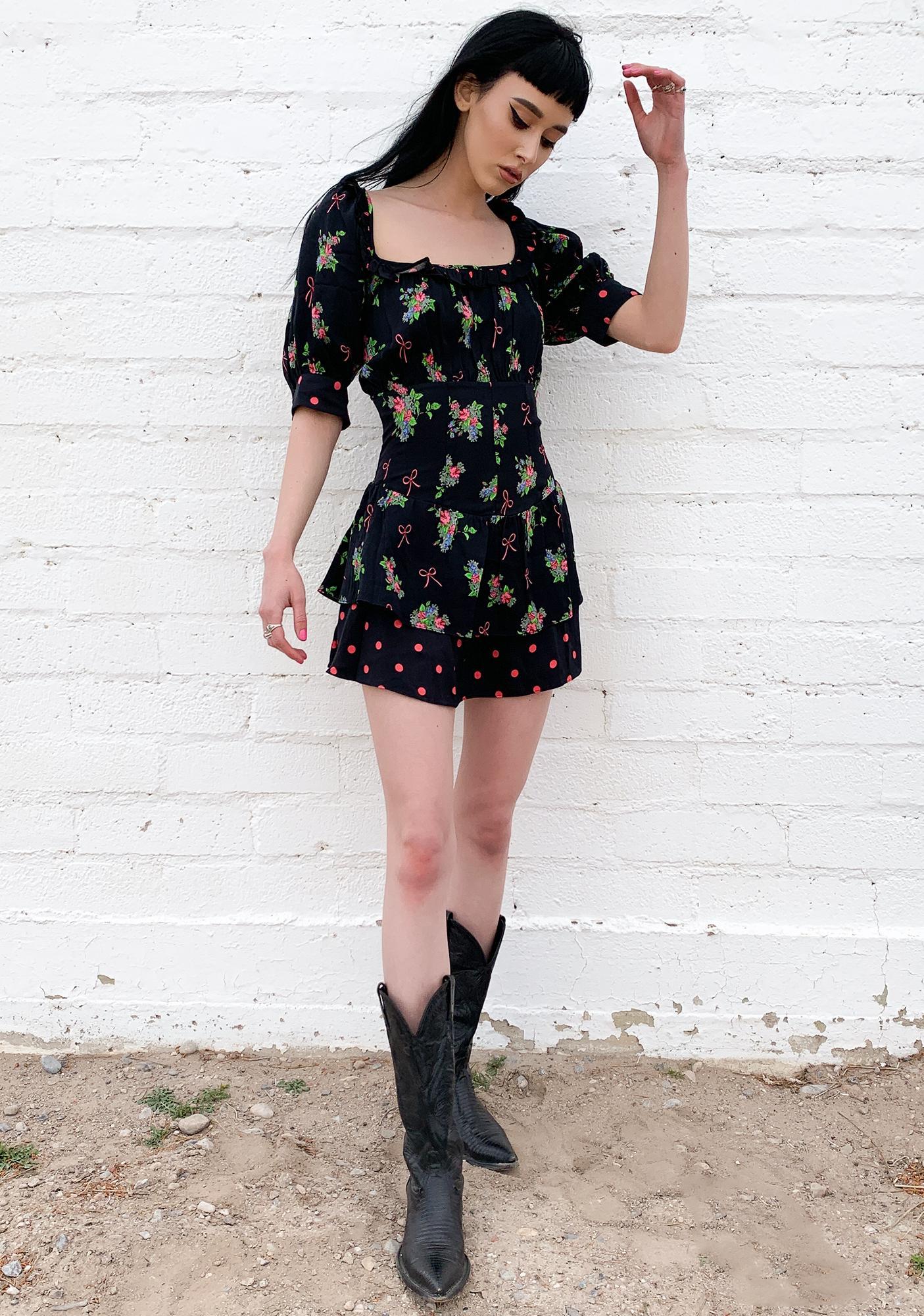 For Love & Lemons Wilson Print Mini Dress