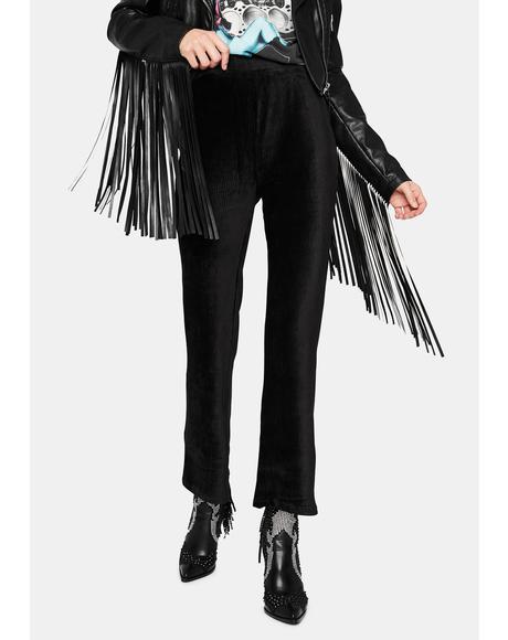 Nocturnal Dreamer Velvet Flare Pants